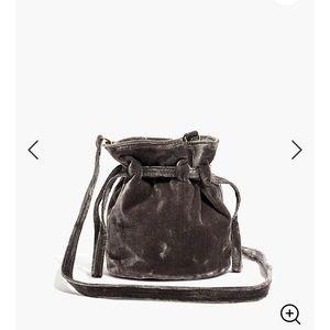 The Florence drawstring crossbody bag in velvet